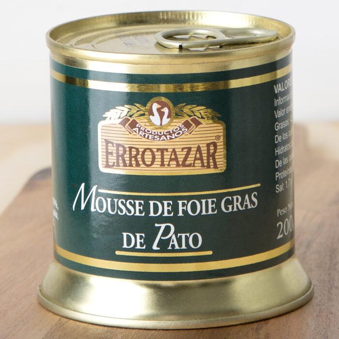 Mousse de Foie-Gras de Pato. Lata 200gr