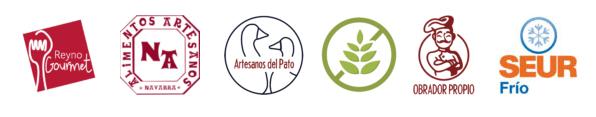 Sellos Reyno Gourmet, Sin Gluten, Artesanos, Obrador propio, Artesanos del Pato, Seur Frío, Alimentos artesanos de Navarra